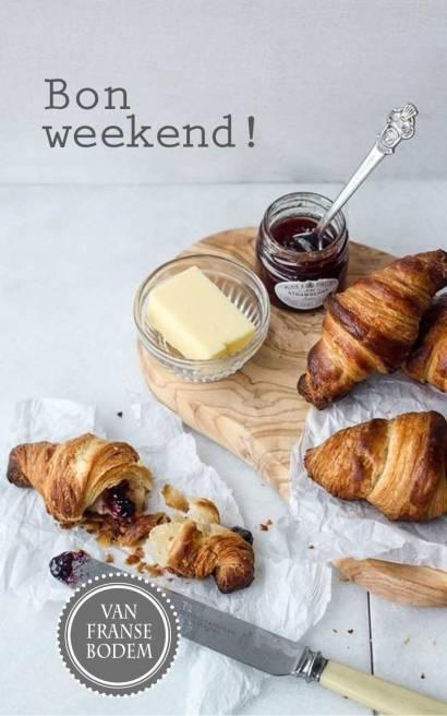 bon weekend croissant