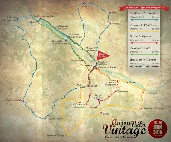 AVV2015-carte 5 parcours avec horaires