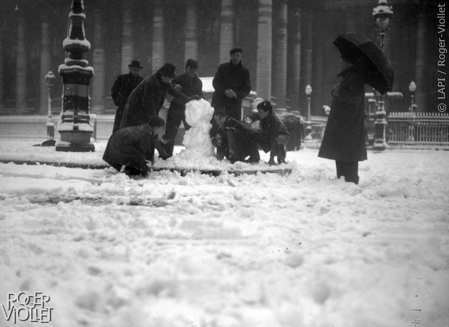 Parijs in de sneeuw