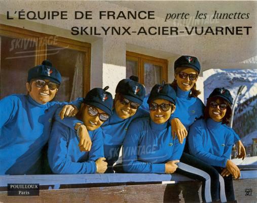 CARTON-PUB-POUILLOUX-L-EQUIPE-DE-FRANCE-DE-SKI-PORTE-LES-LUNETTES-SKILYNX-AC-laclinique-finestore-barcelona
