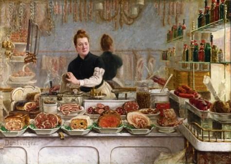 edouard-jean-dambourgez-french-1844-1890-a-pork-butchers-shop