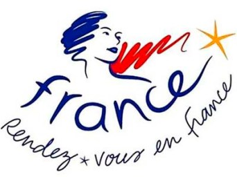 "This undated photo released by the French Government Tourist Office shows the new tourism logo from the French government featuring a woman symbolizing Marianne, an allegorical figure and national symbol since the French Revolution, and the tagline, ""Rendez-vous en France."" (AP Photo/French Government Tourist Office) ** NO SALES **"