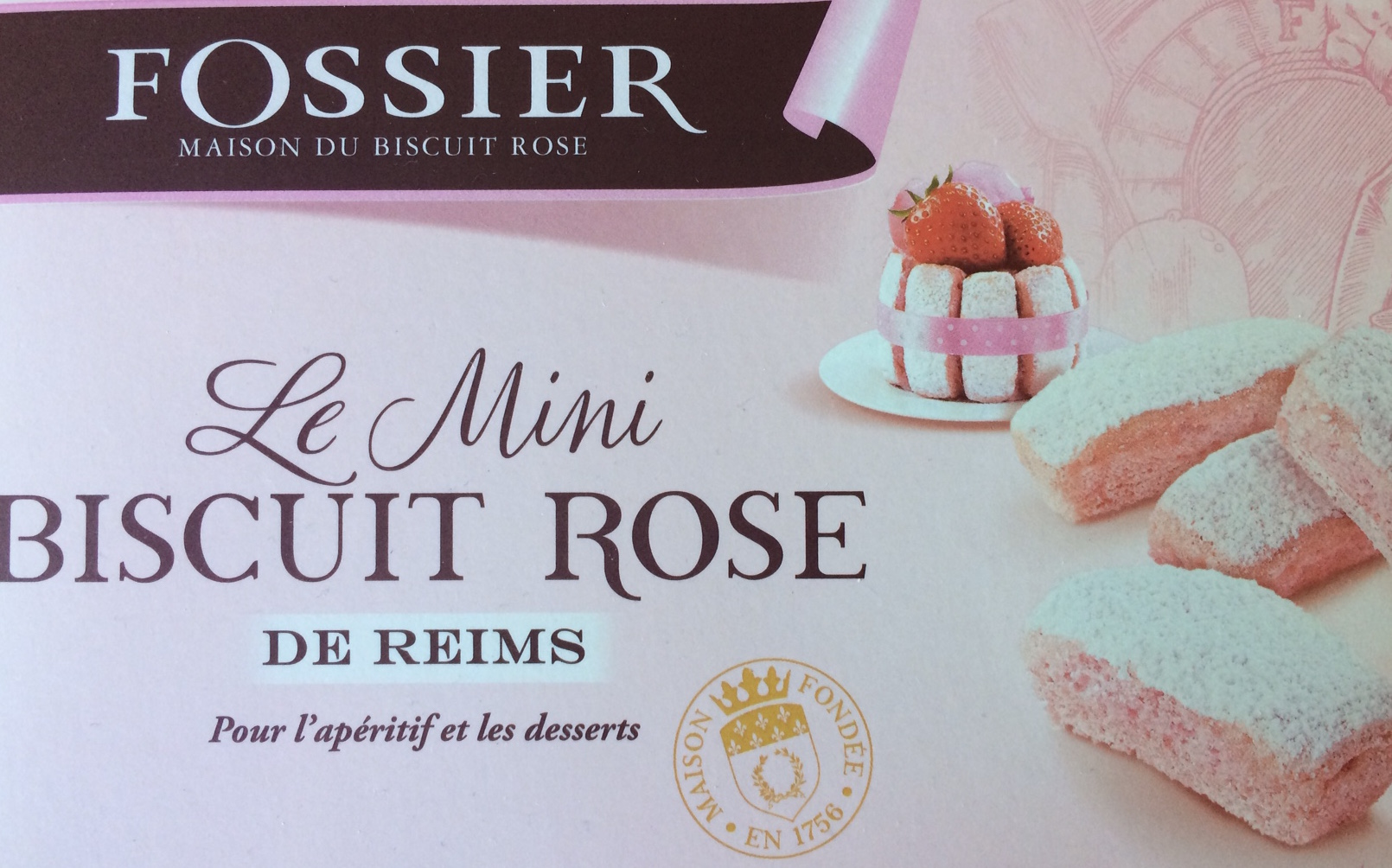 Biscuit Rose de reims Fossier