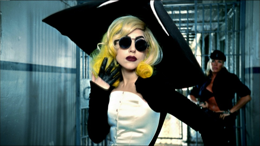 """5. Lady Gaga in the video for the song """"Telephone"""" (The Fame Monster album), 2010, directed by Jonas Åkerlund. Outfit Thierry Mugler, Anniversaire des 20 ans collection"""